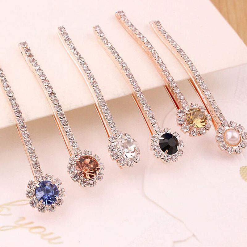 Vintage Palace Style Hair Styling Bobby Pin Ladies Bridal Wedding Decorative Jewelry Hair Clip Glitter Rhinestone Curved Hairpin in Women 39 s Hair Accessories from Apparel Accessories