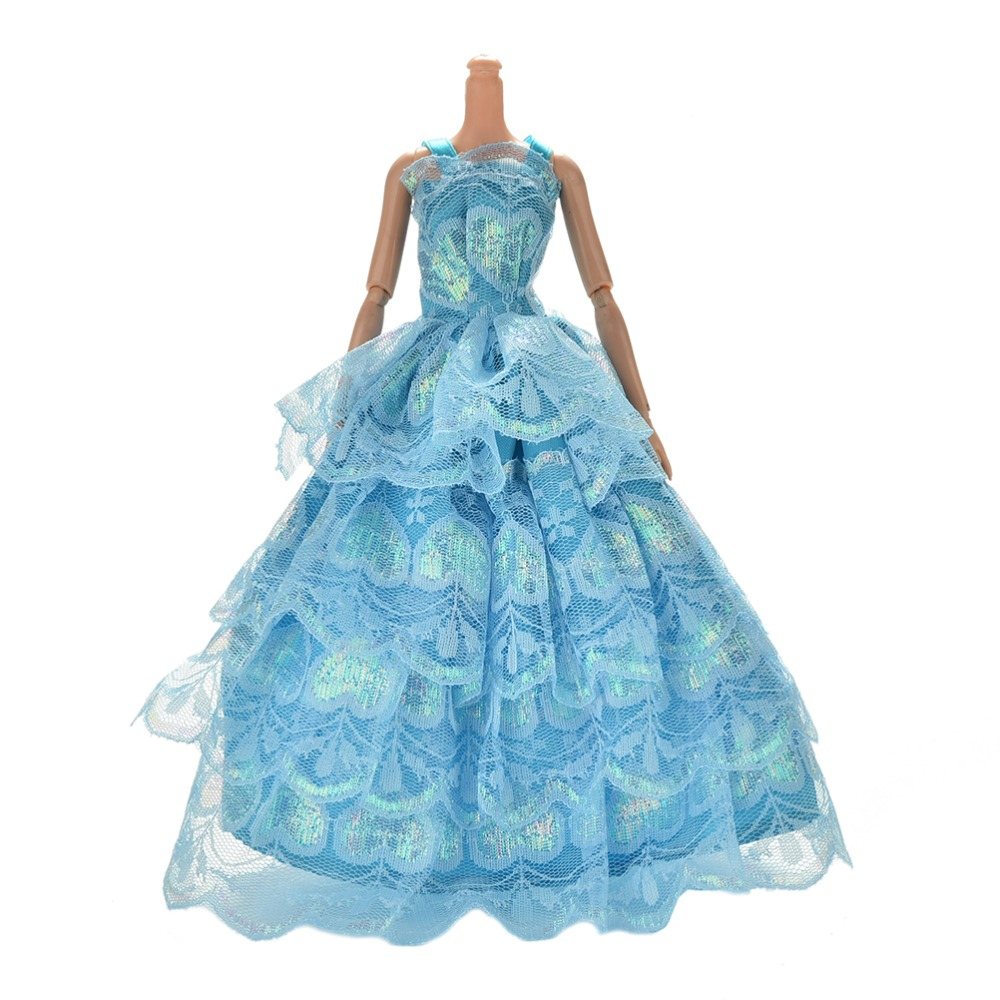 Wedding Clothes Dress for Barbie Doll Gift Baby Toys Delicate Party ...