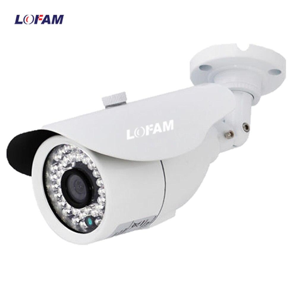 LOFAM AHD 4MP Bullet CCTV Camera HD Indoor Outdoor Metal Waterproof Day Night Security Camera Home Video Surveillance Camera 4MP