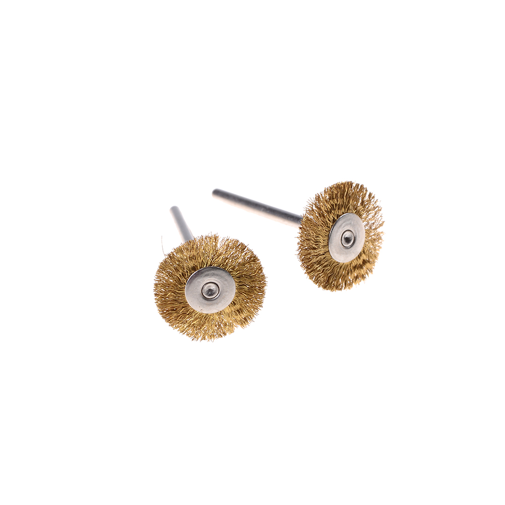 2Pcs/lot 3 Styles Soft Metal Gold Copper  For Electric Dremel Rotary Tools Accessories Brass Wire Brush Bit