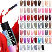 купить LILYCUTE 5ml Nail Gel Polish Semi Permanent Red Series Gel Led UV Long Lasting Soak Off Nail Art Gel Varnish With Base Top Coat онлайн