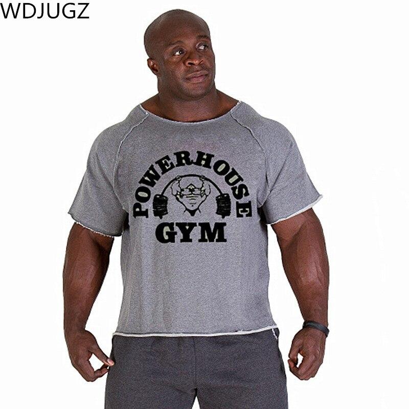 Männer T Shirts Golds Fitness Männer Bodybuilding Gorilla Tragen Shirt Flügel-hülse Lappen Tops