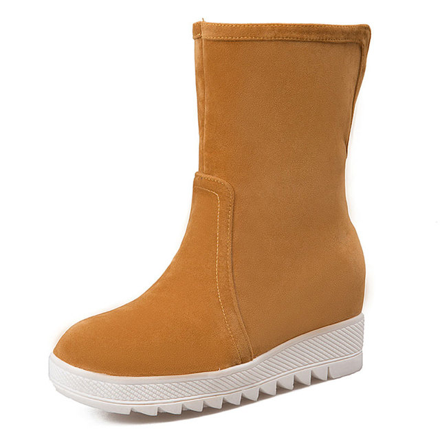 Lloprost KE winter woman boots trifle with increased round toe vogue snow boots sport leisure waterproof women shoes dxj1292