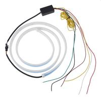 VODOOL 120cm Car LED Strips Rear Trunk Tail Light Braking Turning Signals Warning Lamp LEDs Strip