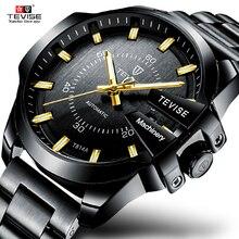 Tevise nouveau luxe mode automatique mécanique montre affaires décontracté étanche montres or horloge Relogio Masculino t814