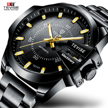 Tevise nuevo moda de lujo automático reloj mecánico ocasional de negocio impermeable relojes de oro Relogio masculino t814