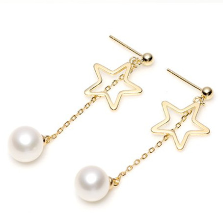 Elegant Fashion Pearl Earrings S925 Sterling Silver Jewelry For Women Stud Earring Natural Freshwater Round Pearl Jewelry Gift daimi 6 7mm perfectly round pearl earring long earrings design freshwater pearl 925 silver earring gift j
