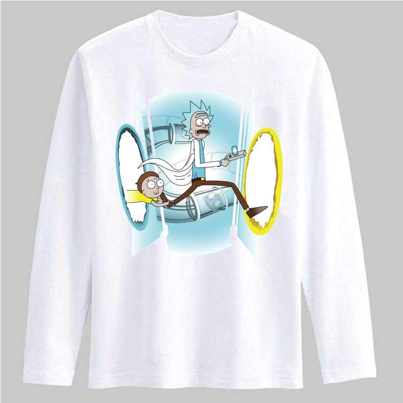 2017 men t shirt high quality rick and morty cartoon comic for Good quality long sleeve t shirts