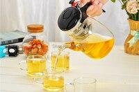 5pcs/set Hot selling 750ml glass teapot set + 4pcs 100ml glass tea cup JO 1053