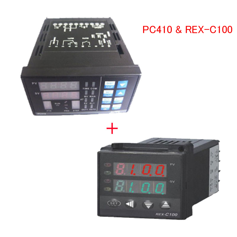 1 Set PID Temperature Controller Panel Thermostat PC410 & REX-C100 For IR6000 BGA Rework Station bga reballing kits for ir6000 bga rework station pc410 original omega wire tm 902c thermocouple wire