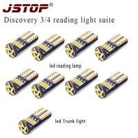 JSTOP 9pcs/set led reading light 4014SMD Trunk lamp w5w t10 led 6000K Interior bulbs 12V led automobile canbus car reading light