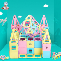 205/246/298pcs magnetic constructor blocks magnetic building construction toys children educational magnet for boys and girls
