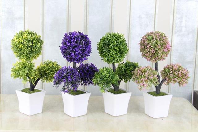 Plastik Bunga Buatan Miniascape Dekorasi Dalam Ruangan