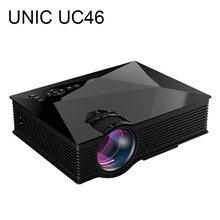 Lo nuevo uc46 unic mini pico proyector lcd full hd 1080 p hogar teatro 1200 Lúmenes 2.4G WIFI HDMI AV USB SD IR Portátil Projetor