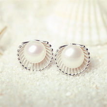 2018 Time-limited Promotion Round Brincos Earings Fashion 925 Sterling Pearl Stud Earrings Jewelry Long For Women Ear Gift E304(China)