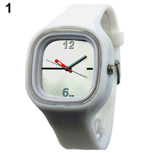 New! Cute Mens Womens Jelly Silicone Colorful Sport Quartz Simple Wrist Watch for Gift Items
