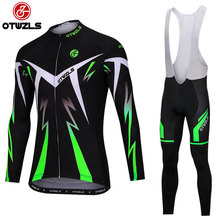 OTWZLS 2018 Pro Long Sleeve Cycling Jersey Sets Breathable Padded Sportswear Mountain Bicycle Bike Apparel Cycling Clothing set