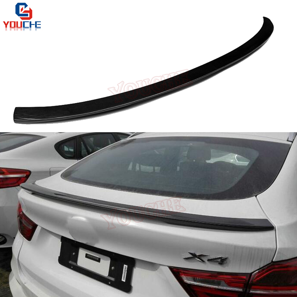 M-performance Style Rear Spoiler Wing for BMW X4 F26 2014 - 2018 Carbon Fiber Material Trunk Lid Spoiler glc coupe решетка радиатора amg