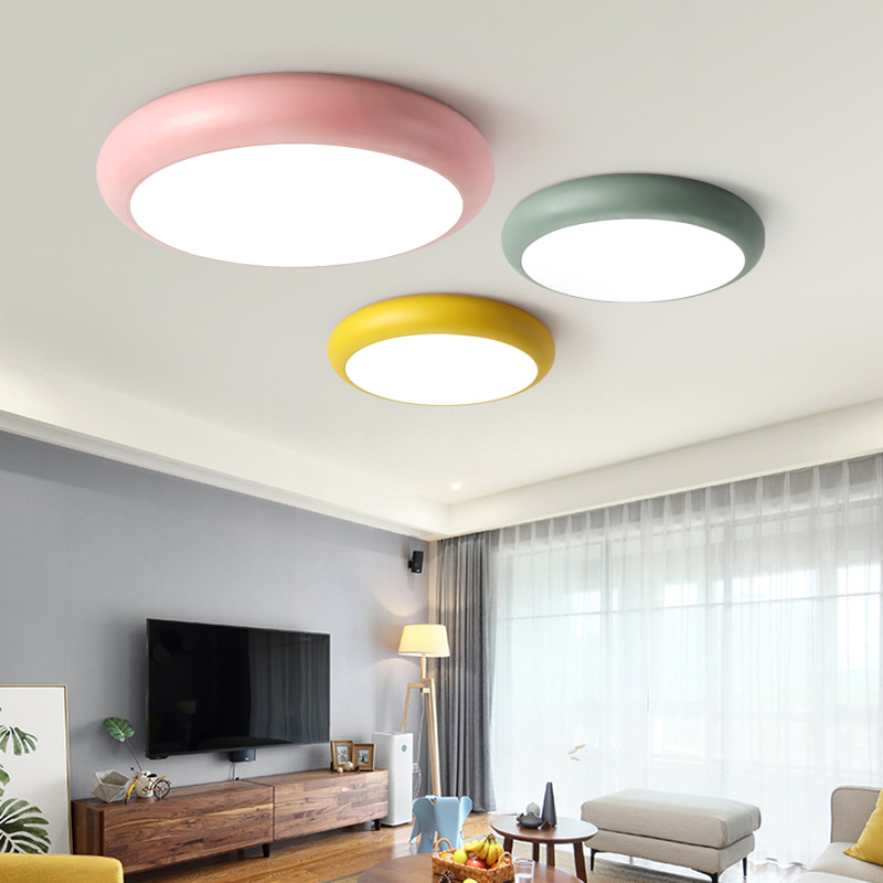2019 New Style Multicolor Ultra-thin Led Round Ceiling Light Modern Panel Lamp Lighting Fixture Living Room Bedroom Kitchen Remote Contro Ceiling Lights & Fans