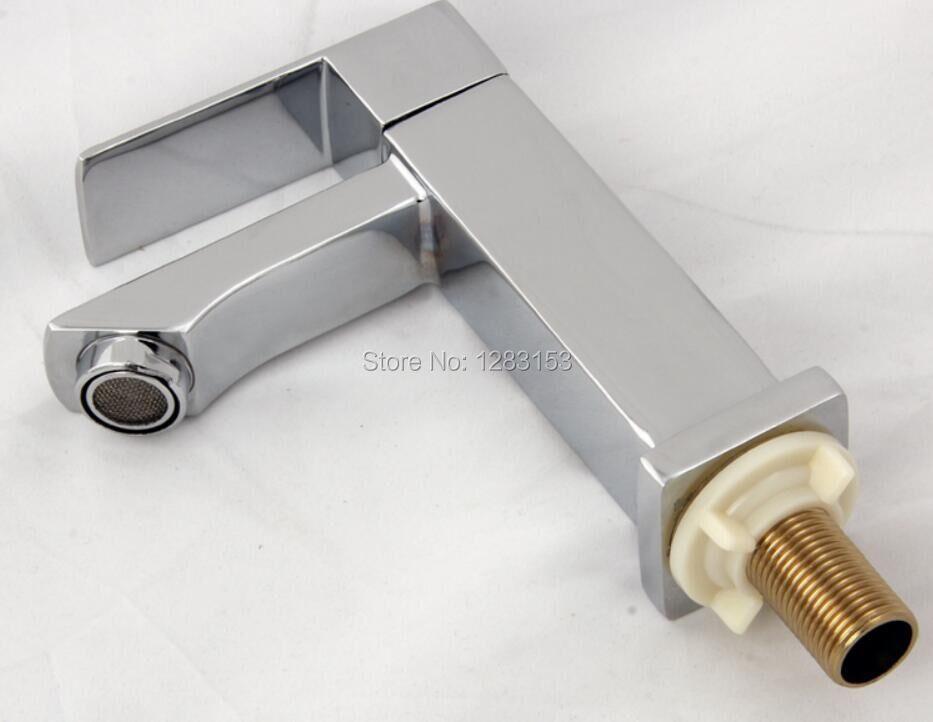 Haute qualité de zinc carré bassin robinet salle de bains accessoires SINGEL FUNTION MIXER l'eau du robinet