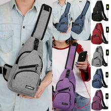Männer Jungen Schultertasche mit USB-Ladetasche Crossbody-Umhängetaschen