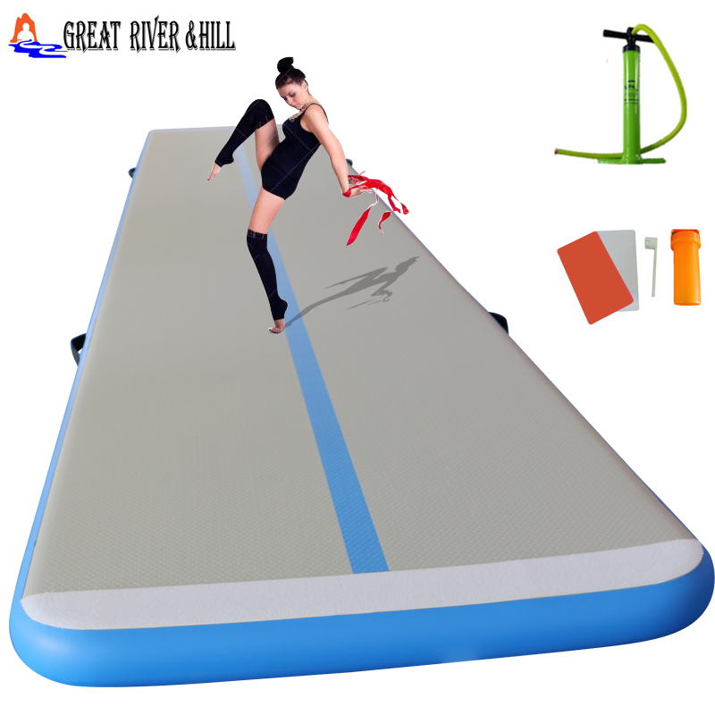 School Use Inflatable Fitness Mat Size 16.4ftx3.3ftx4inch