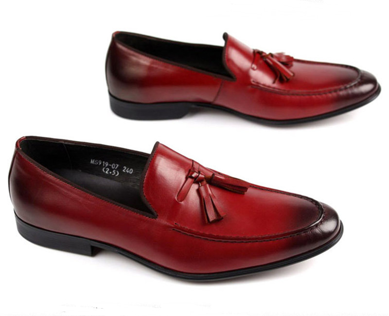 Black Brown tan flats summer loafers mens causal shoes genuine leather dress shoes mens wedding shoes