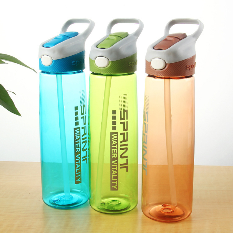 3 Colors Bounce Cover Sport Water Bottle With Straw Leak Proof Shaker My Drink Bottles Eco-friendly BPA Free Freeshipping