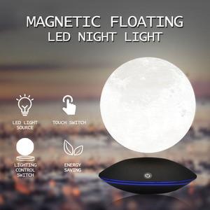Image 5 - Magnetic Levitating 13.5 ซม. 3D Moon 360 หมุน Night โคมไฟลอยสัมผัสแสงโรแมนติกตกแต่งบ้านสำหรับห้องนอน