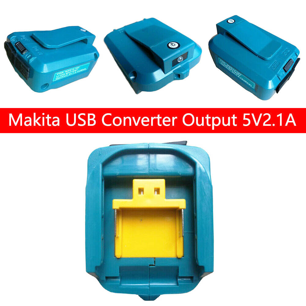 USB Power Charger <font><b>Adapter</b></font> for <font><b>MAKITA</b></font> ADP05 14.4-<font><b>18V</b></font> Li-ion Battery Converter Replacement Power tool Battery ChargerNew Arrive image