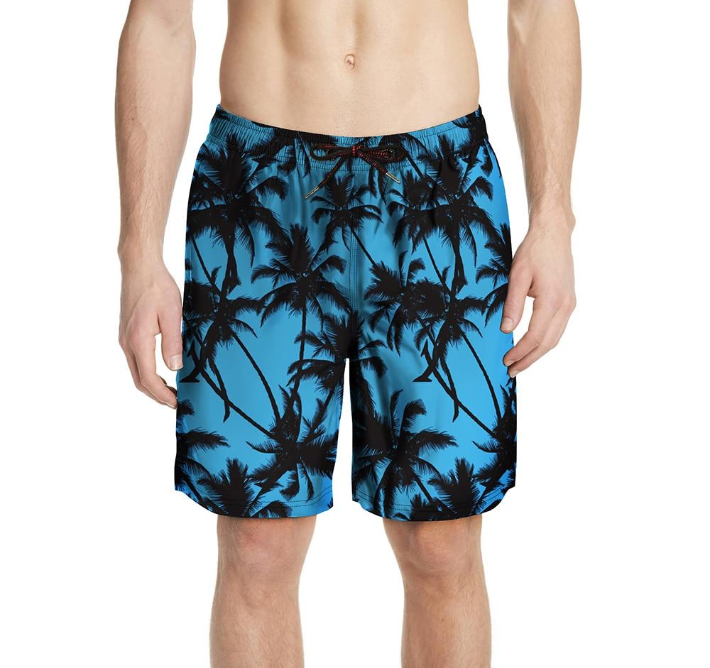 Tree Pattern Mens   Board     Shorts   Men Beach Swimsuit   Short   Male Bermudas Beachwear Bathing Suit Quick Dry Plus Size XXL 3XL
