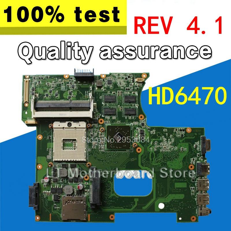k42jz Motherboard Rev 4.1 512M HD6470 For ASUS k42j x42j a42j Laptop motherboard k42jz Mainboard k42jz Motherboard test 100% OK цена