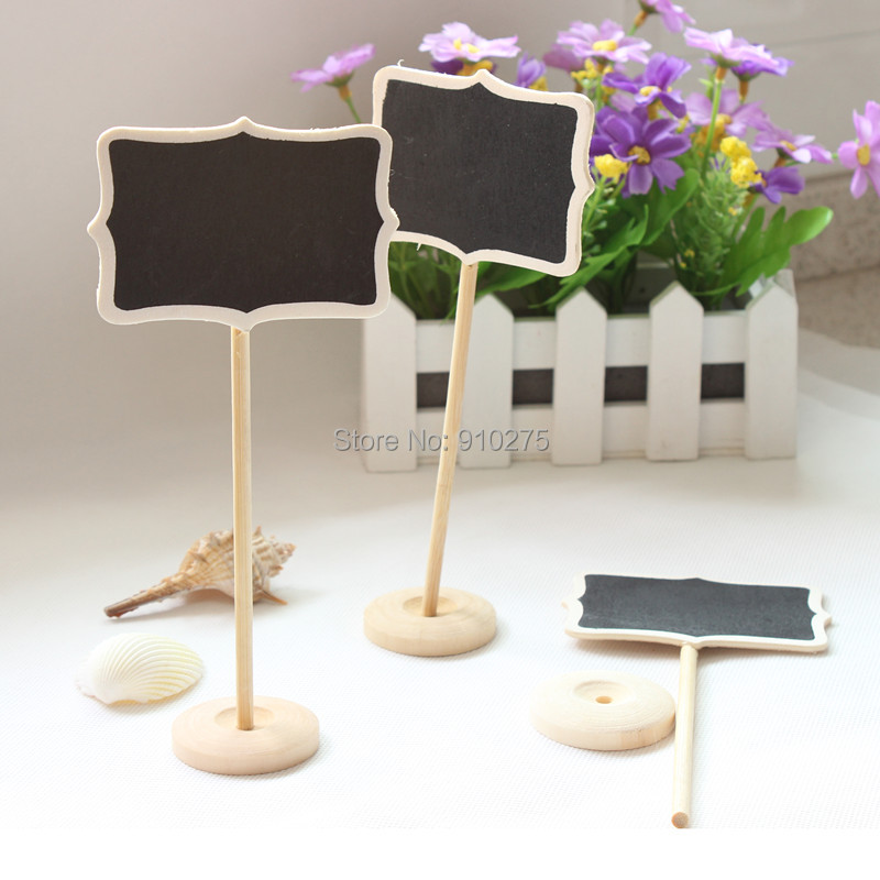 20 Pcs/lot DIY Mini Rectangle Chalkboard Blackboard Wedding Table Numbers  For Wedding Party Decoration Holiday Supplies In Party Direction Signs From  Home ...