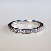 Микро проложить обручальное кольцо с синтетическими бриллиантами для женщин юбилей стерлингового серебра ювелирные изделия полумонтаж цена по акции