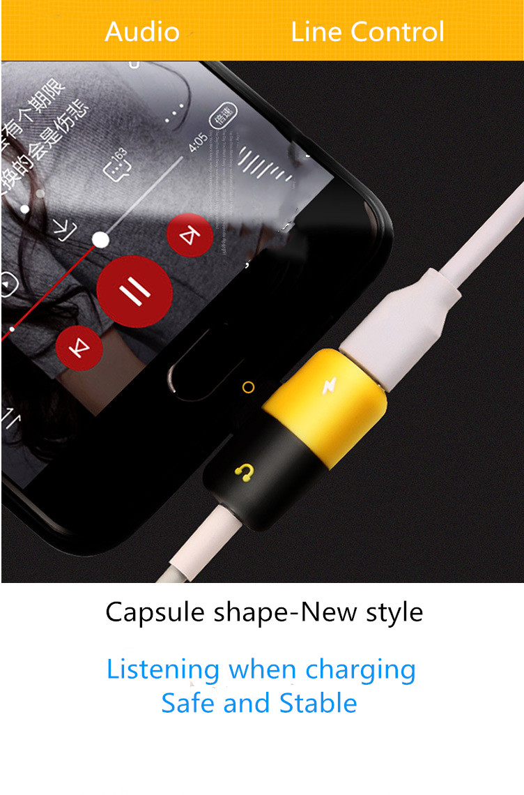 Dual Headphone 2 In 1 Audio Charger 8