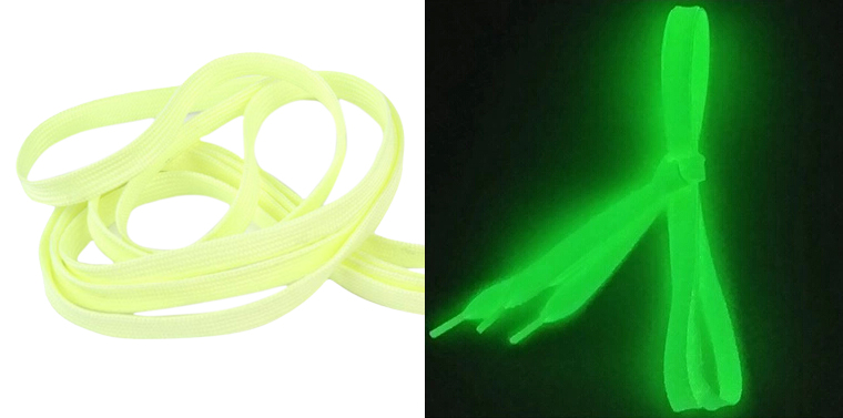 5pcs( Shoelaces Light up Flashing glowing Shoe Laces or Fluorescence Shoelaces- Rave Party Accessories,ordinary,yellow fluorescence yellow high visibility