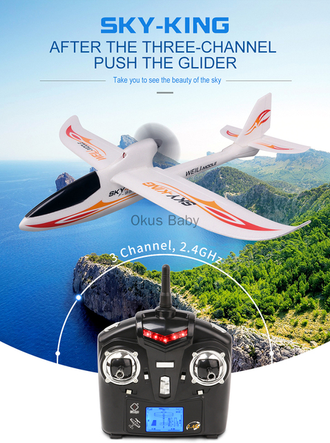 2019 Brand New 2.4G 3Ch RC Airplane Fixed Wing Plane Outdoor toys Drone For Gifts 4