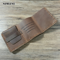 The Secret Life Of Walter Mitty Genuine Leather Wallet Men Vintage Handmade Crazy Horse Leather Wallet