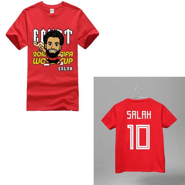 2018 salah NO.10 in russian Egypt country world footballer player  soccersing liverpool t shirt 756c54e66