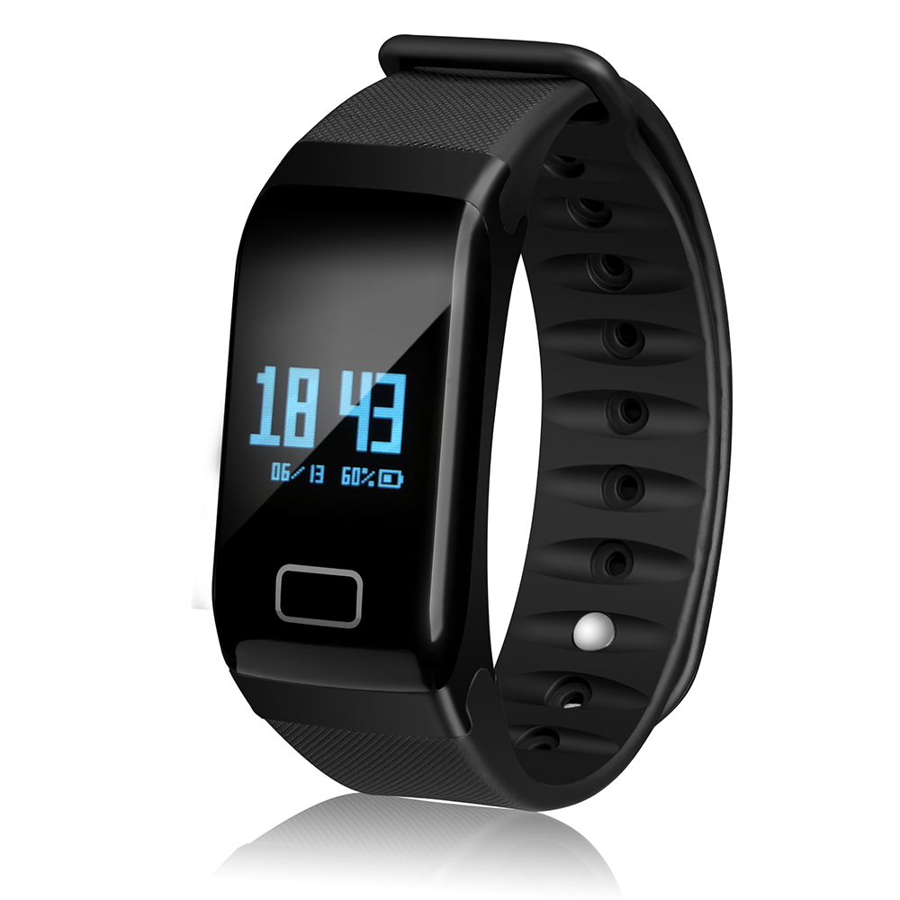 Newyes F1 Black Smart bracelet Blood Pressure Monitor Heart Rate Smart Watch Waterproof For Sports and Fashion Health Tracker   ...
