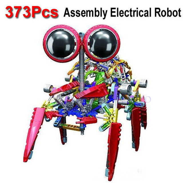 373Pcs  Large Size LOZ Electrical Robot Puzzle Assembly Bricks DIY Toy For Kids Children