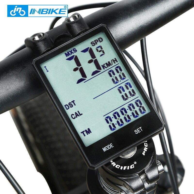 INBIKE 2.8/'/' Bike Computer Cycle Speedometer Wireless Backlight Bicycle Odometer