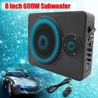 8 Inch Bluetooth Car Home Subwoofer Under Seat Sub 600W Stereo Subwoofer Car Audio Speaker Music