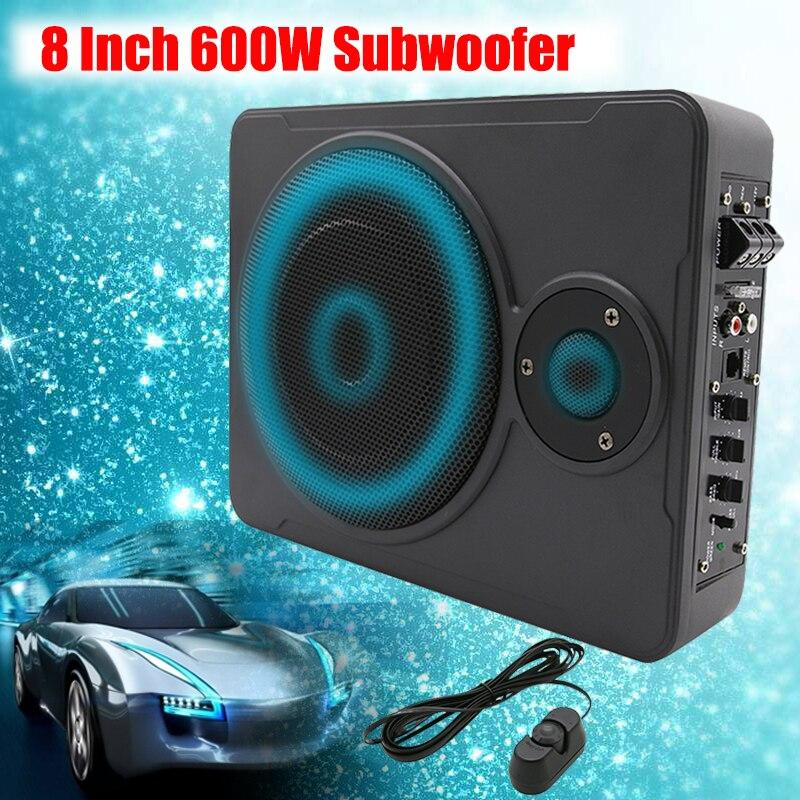 8 pouce Bluetooth Maison De Voiture Subwoofer Sous Le Siège Sous 600 w Stéréo Subwoofer De Voiture Audio Haut-Parleur Système de Musique Son Woofer