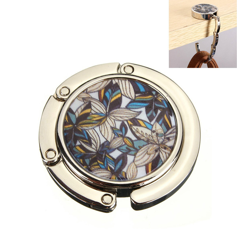 New Metal Foldable Bag Purse Hook Bag Hanger/Purse Hook/Handbag Holder Shell Bag Folding Table LT88