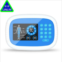 Multi function HD display charging double output acupuncture massage apparatus digital electronic home physiotherapy instrument