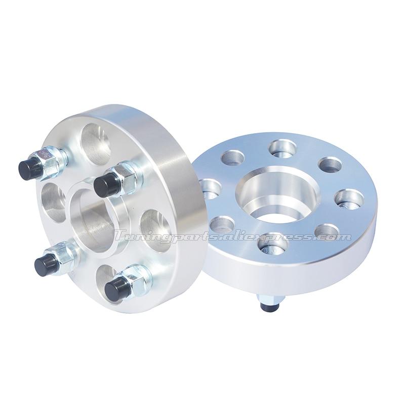 (2 Stks/partij) Pcd 4x100 Cb 54.1mm Gesmede Lichtmetalen Auto Wiel Spacer Adapters Voor Toyota Sienta Yaris Ractis Probox Platz Voor Snelle Verzending