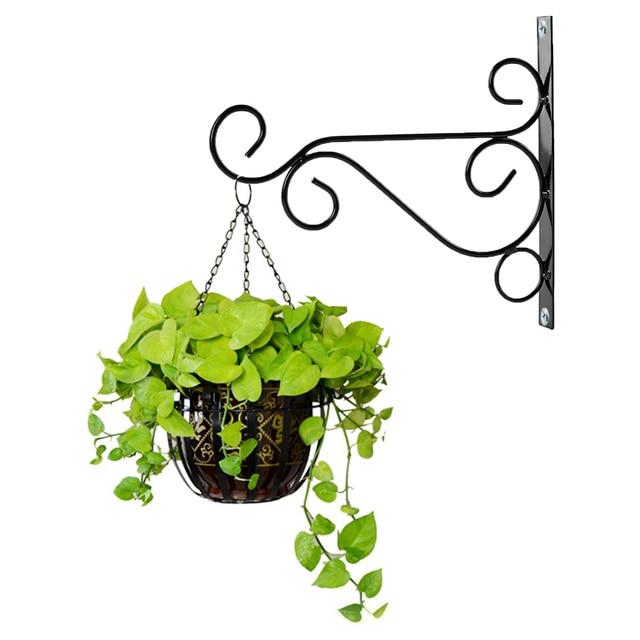 Hanging Basket Hooks Metal Iron Wall Brackets Garden Plant Hangers Lantern Pot Hook