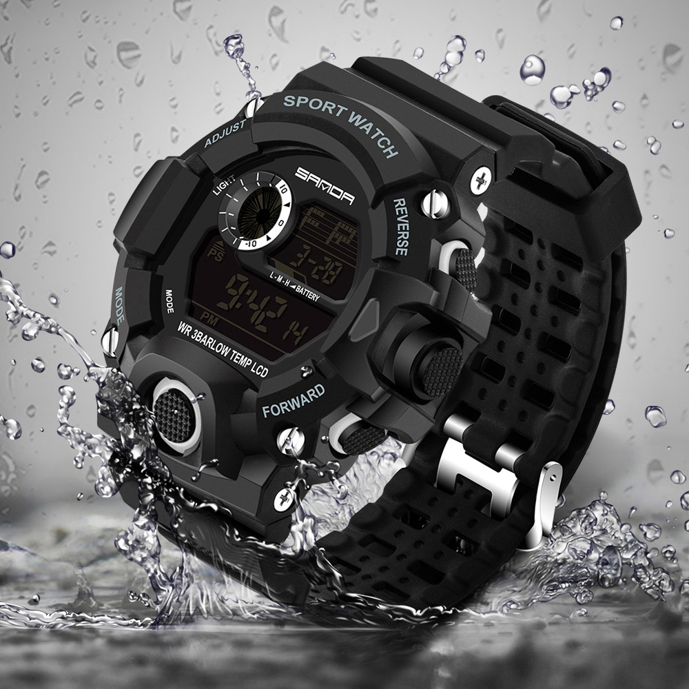 2018 Vëzhgim Dore Elektronike Ushtarake Sport Top Marka Sanda Digital Wristwatches Men G G Shock Watch Watch Waterproof Shockproof