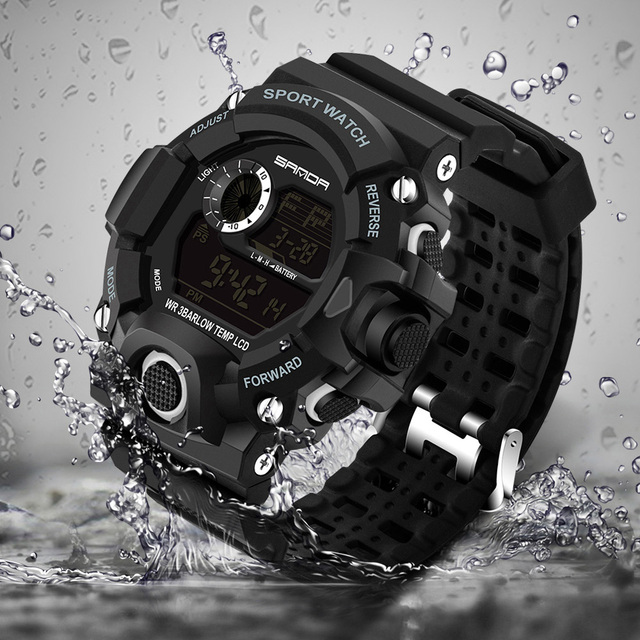 2018 Military Electronic Wrist Watch Sport Top Brand Sanda Digital Wristwatches